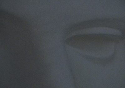 oeil blanc